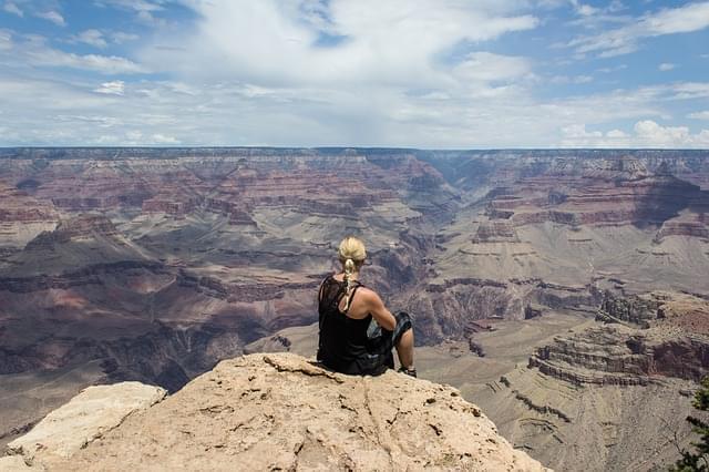 grand canyon ragazza vista sognare