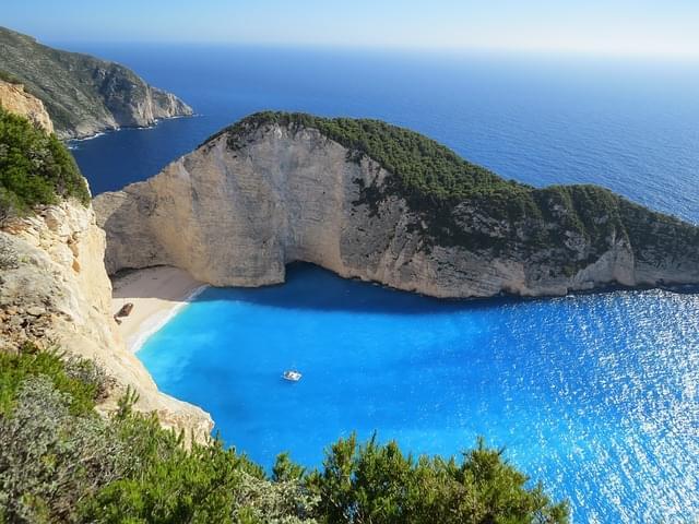 Shipwreck Beach a Zante, Grecia