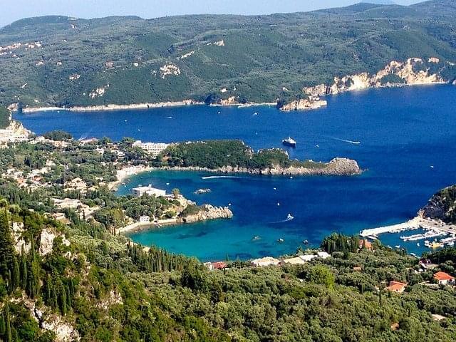 grecia isola isola di corfu mare