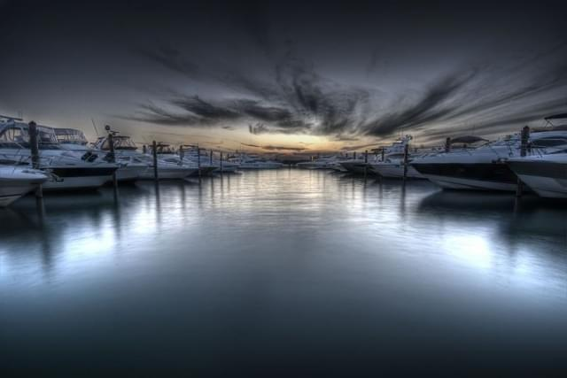 haulover park florida tramonto