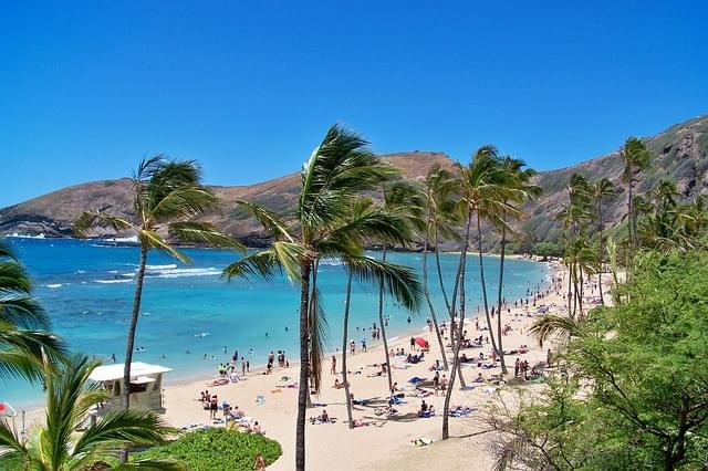 spiaggia alle hawaii