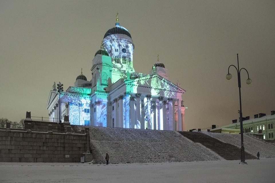 helsinki cathedral inverno