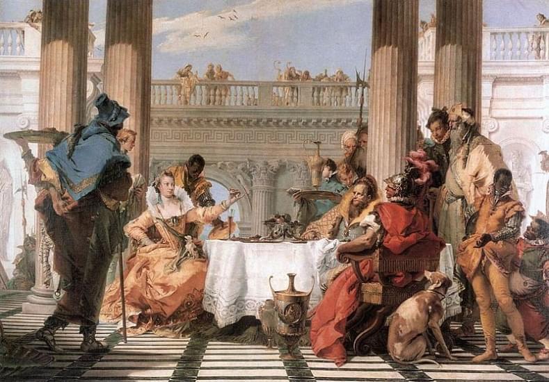 il banchetto di cleopatra tiepolo