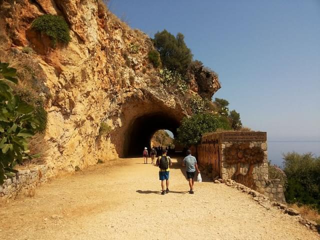 ingresso alla riserva dello zingaro itinerario a piedi