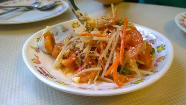 insalata di papaya verde thai cibo