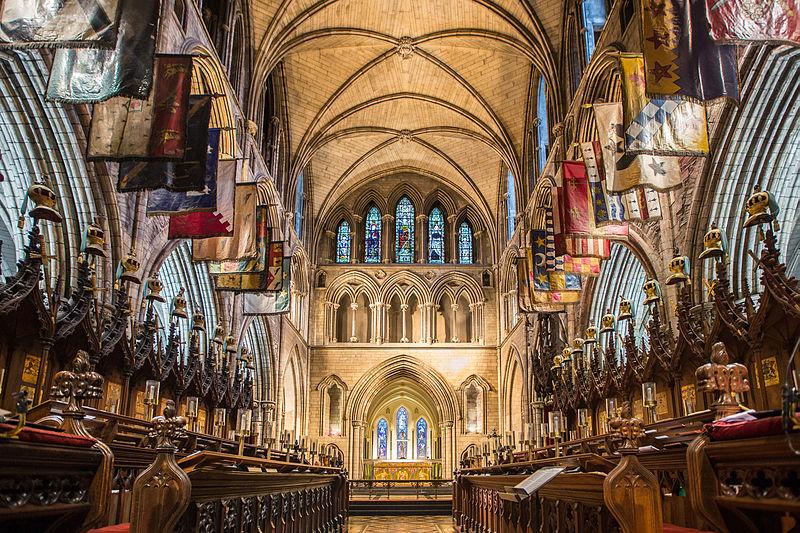 gli straordinari interni della cattedrale irlandese