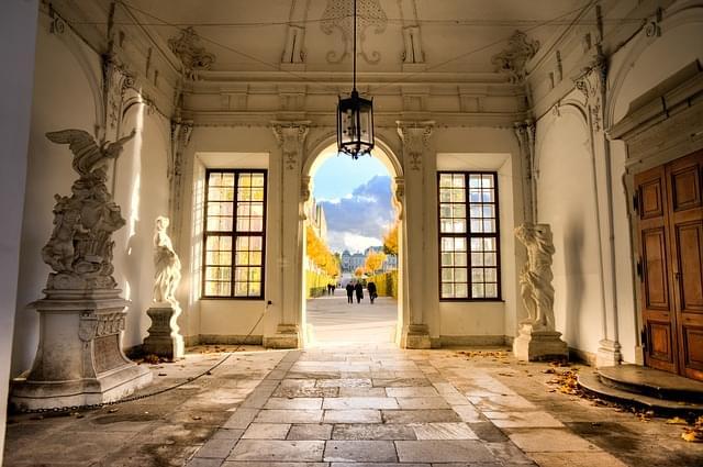 interno museo belvedere vienna