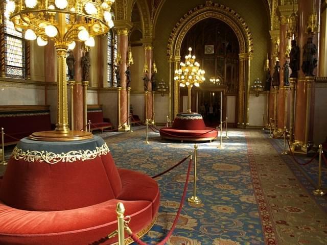 interno parlamento budapest