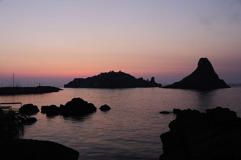 Islands Of The Cyclops At Dawn Sicily Italy Creative Commons By Gnuckx