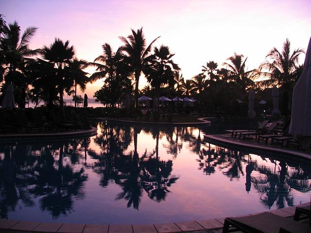 tramonto alle Isole Fiji, Oceania