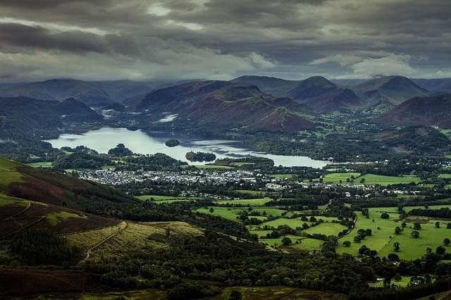 keswick lake district lago panorama