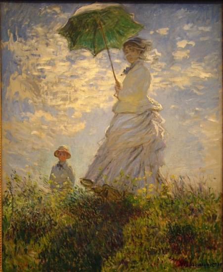 la passeggiata madame monet e suo figlio