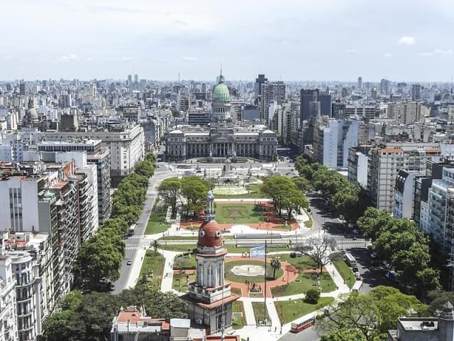 Plaza del Congresso panoramica dall'alto