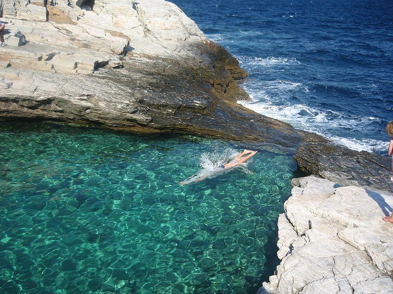 Laguna di Giola (Thassos, Grecia)