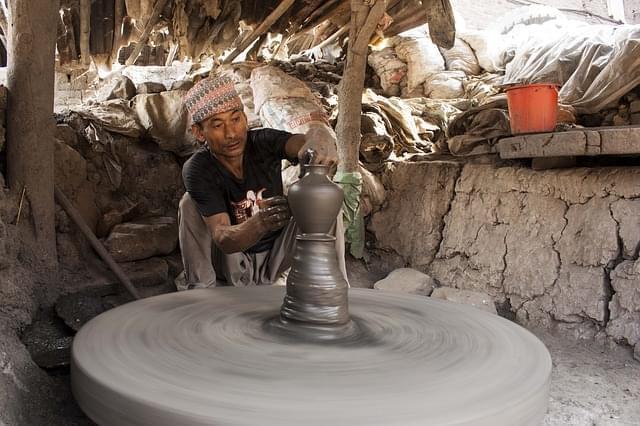 lavoro di argilla bhaktapur artigiani nepal