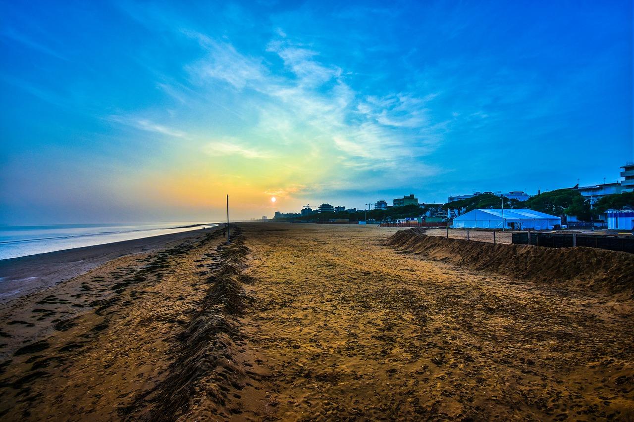 lignano spiaggia mare tramonto 1