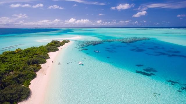 maldive panorama dall'alto