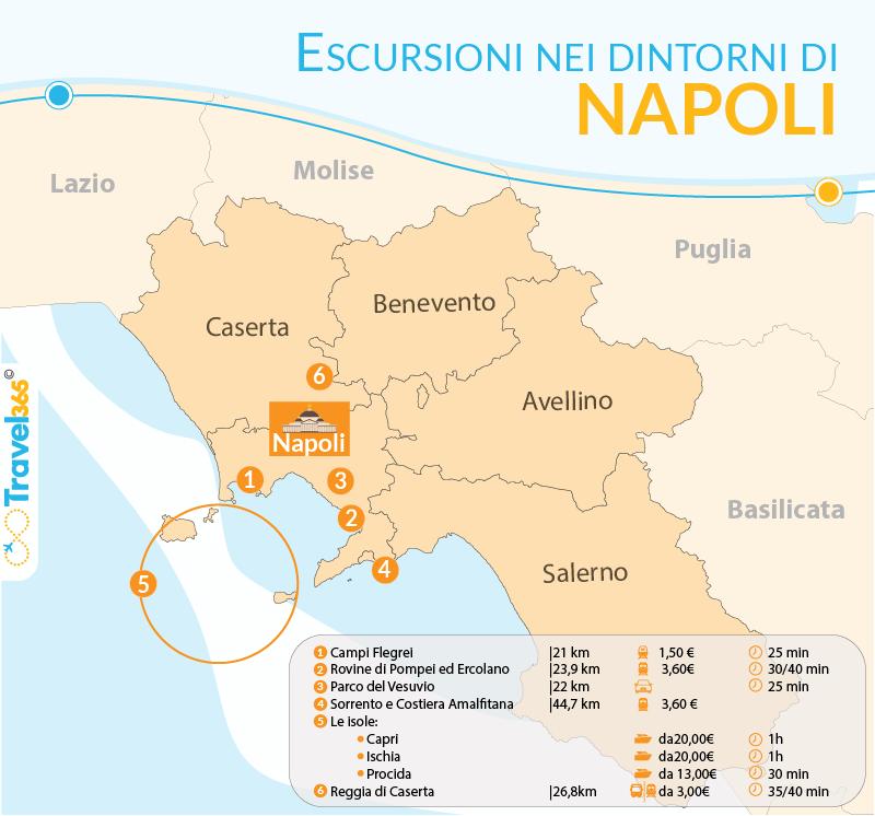 Cartina Costiera Amalfitana E Capri.Escursioni Da Napoli Le Migliori Gite Di Un Giorno Nei Dintorni Di Napoli