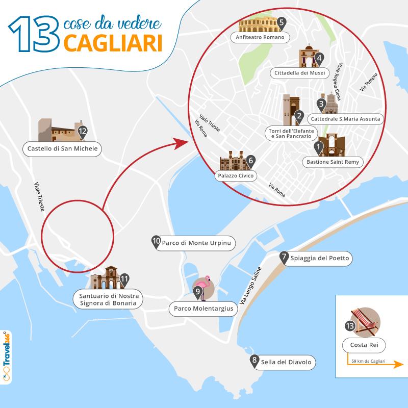 Mappa Sardegna Zona Cagliari.Cosa Vedere A Cagliari Le 13 Migliori Attrazioni E Cose Da Fare