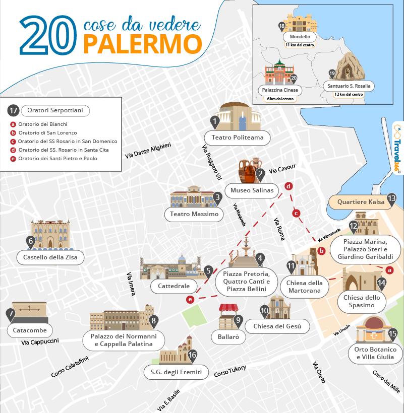 Cartina Della Francia Con Monumenti.Cosa Vedere A Palermo 20 Migliori Attrazioni E Consigli Pratici Sulla Citta