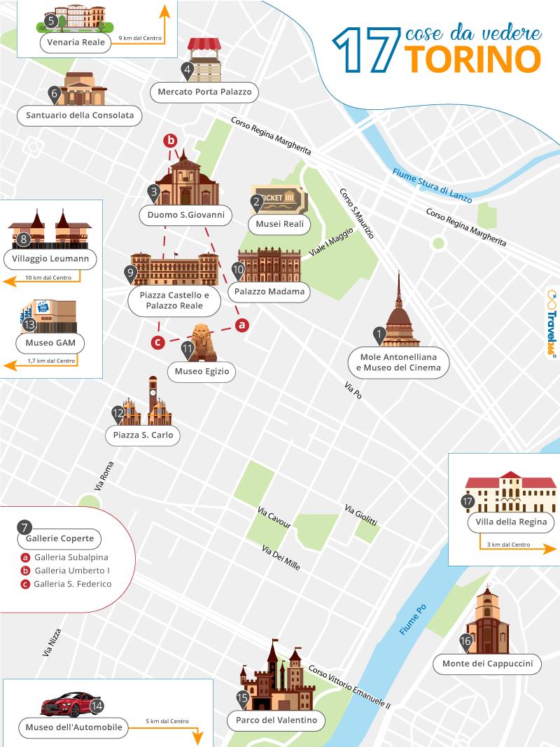Cartina Della Francia Con Monumenti.Cosa Vedere A Torino Le 17 Migliori Attrazioni E Consigli Pratici Sulla Citta