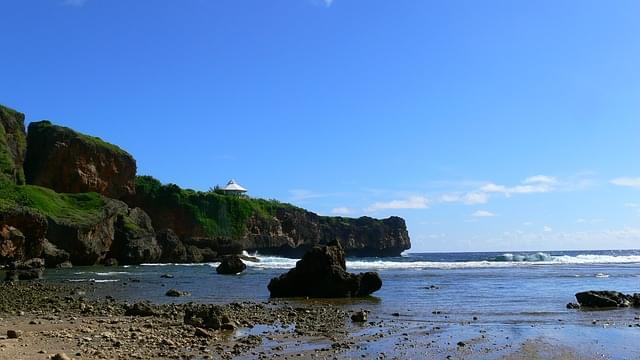 spiaggia nelle isole delle marianne