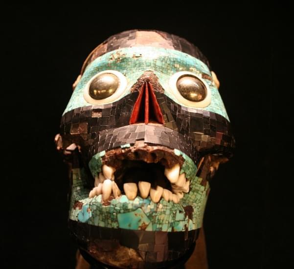 maschera del dio tezcatlipoca