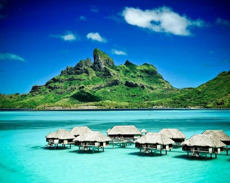 resort con palafitte alle Mauritius