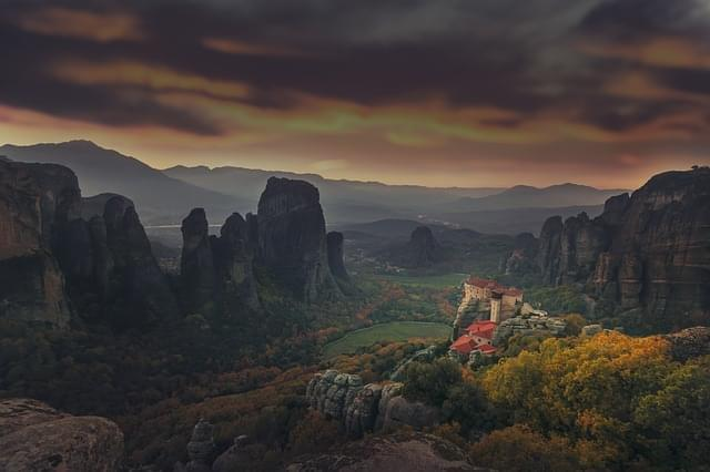 meteora grecia monastero panorama 1