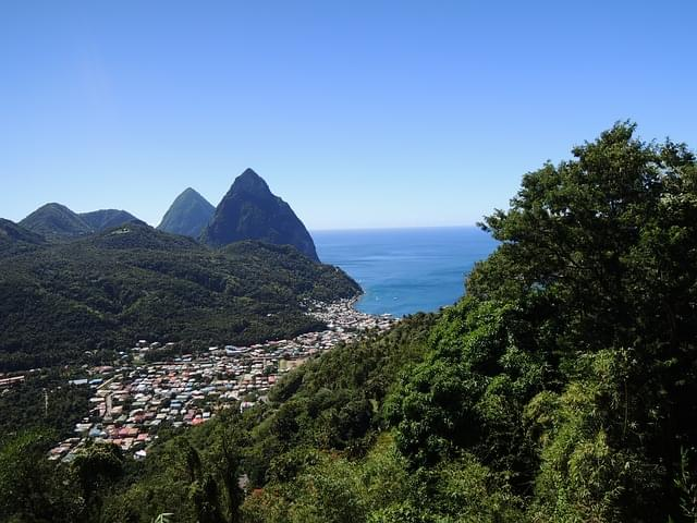 montagne st lucia caraibi