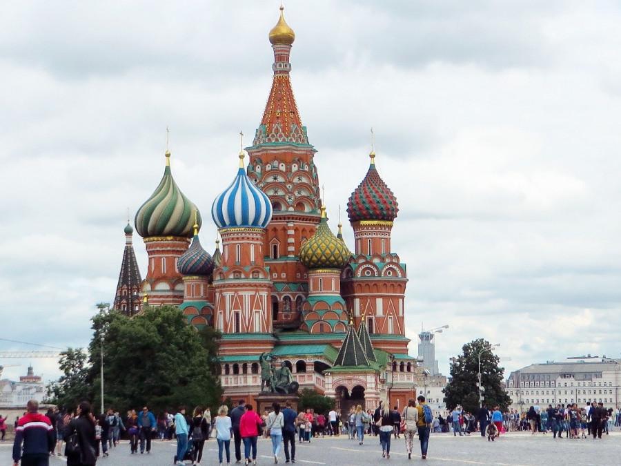 mosca piazza rossa e cattedrale di san basilio