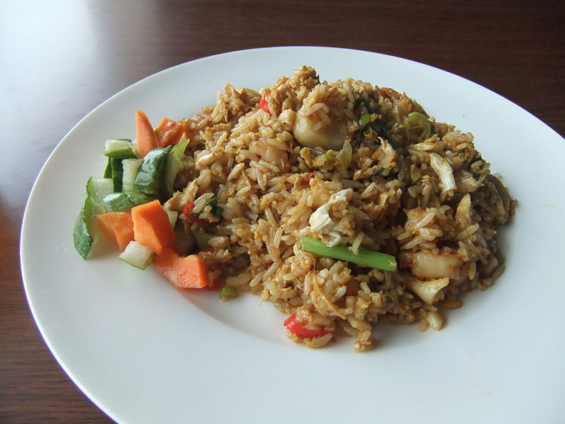 nasi goreng, riso fritto di kuala lumpur