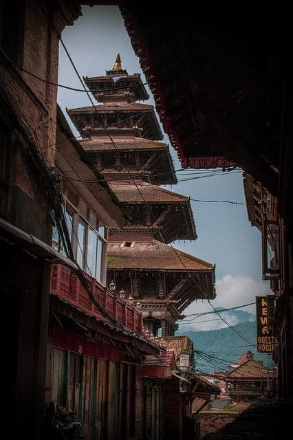 nepal bhaktapur antica architettura changu narayan
