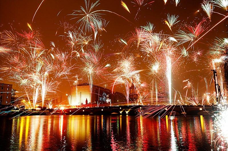 fuochi d'artificio berlino