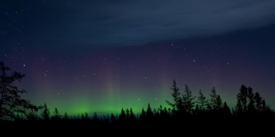 Aurora borealis a Luosto