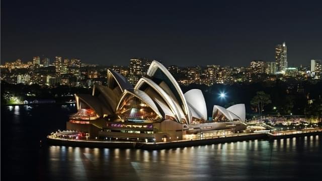sydney opera house notte porto