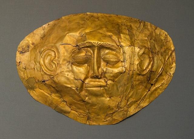 oro maschera funebre antica morte 1