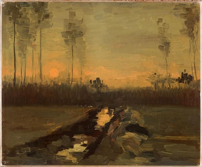 paesaggio al tramonto