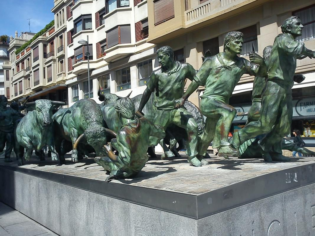 Bull Run Pamplona Spagna Pamplona