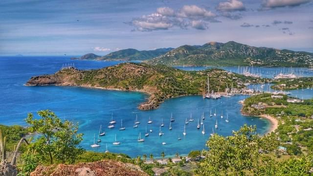 panorama di english harbour antigua