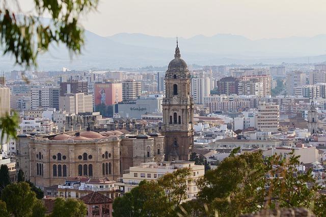 panorama di malaga andalusia