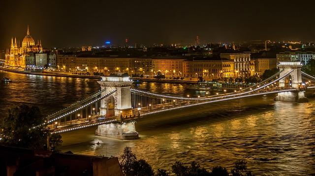 panorama serale ponte budapest