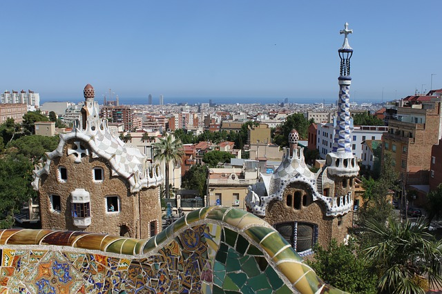 parc guell gaudi barcellona spagna 1