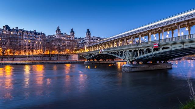 parigi ponte francia fiume senna