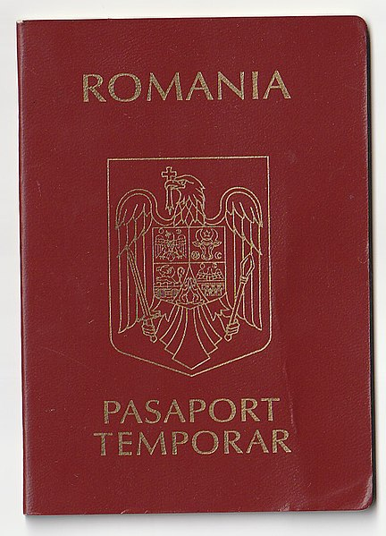 Romanian Temporary Passport Issued In 2011
