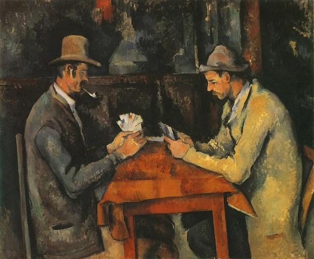 i giocatori di carte cezanne