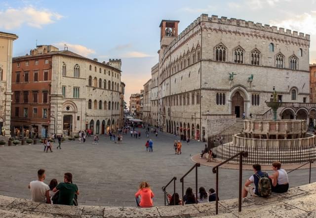 piazza veduta Perugia