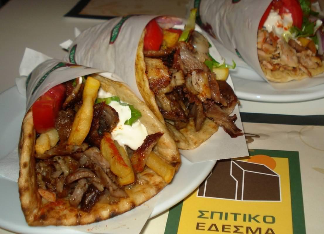 pita gyros kebab cipro