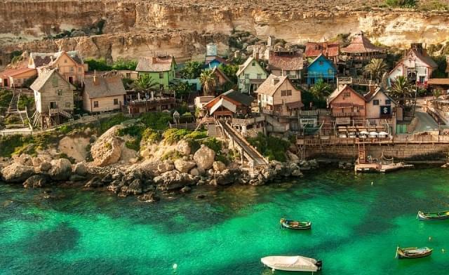 popeye village malta architettura