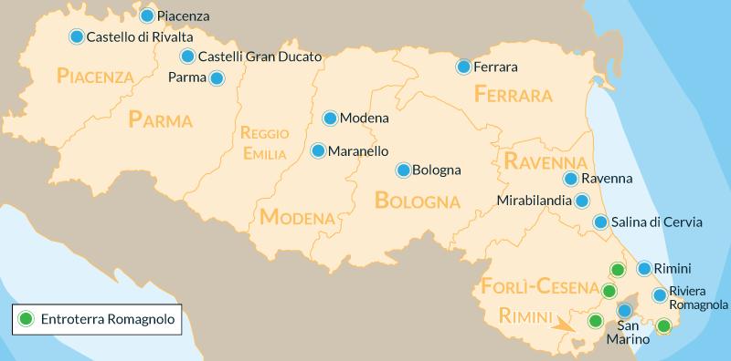 Cartina Riviera Romagnola.10 Posti Da Visitare In Emilia Romagna